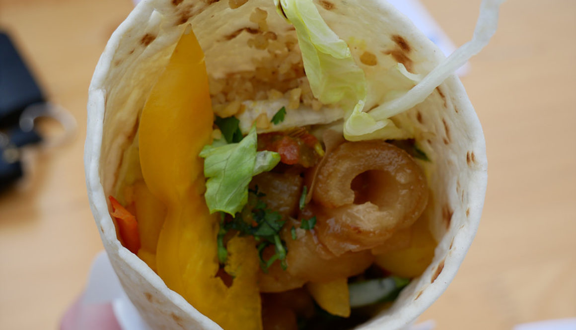 Spezial vegan Wrap von oben bei Mamba Wraps