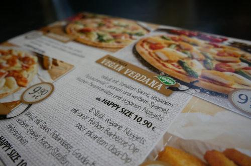 Hallo Pizza! vegane Karte Ausschnitt