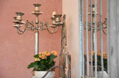 Goldener Kerzenleuchter bei San Remo