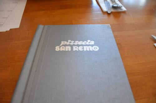 Speisekarte von San Remo