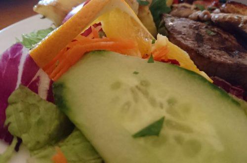 Salatbeilage Nahaufnahme